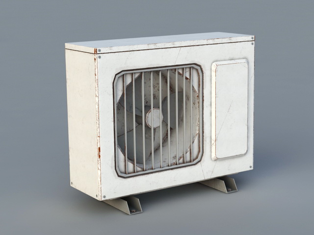Old Air Conditioning Units 3d rendering