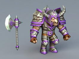 Tauren Warrior 3d preview
