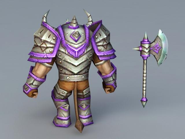 Tauren Warrior 3d rendering