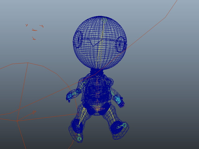 Cute Small Robot Rig 3d rendering