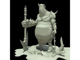 Half-Orc Fighter 3d preview