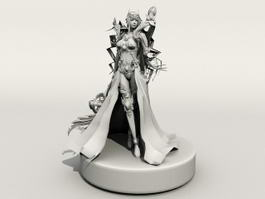 Pathfinder Female Mage 3d preview