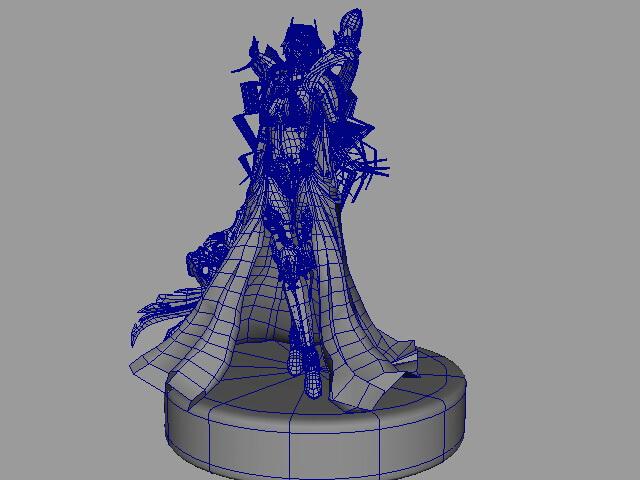 Pathfinder Female Mage 3d rendering