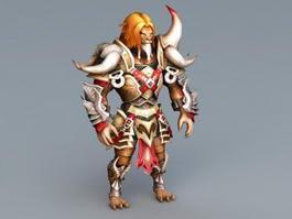 Werelion Lion Warrior Rig 3d preview