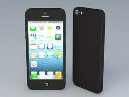 iPhone 5S Black 3d model preview