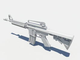 Assault Rifle 3d model preview