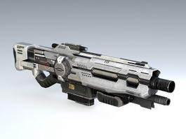Sci Fi Assault Rifle 3d preview