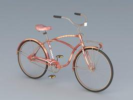 Old Bike Vintage Bicycle 3d model preview