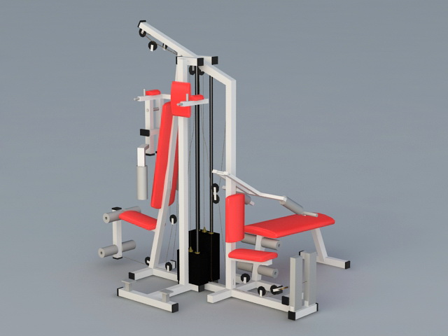 Commercial Multi Gym Equipment 3d rendering