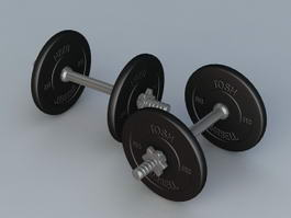 Weight Lifting Dumbbell 3d preview