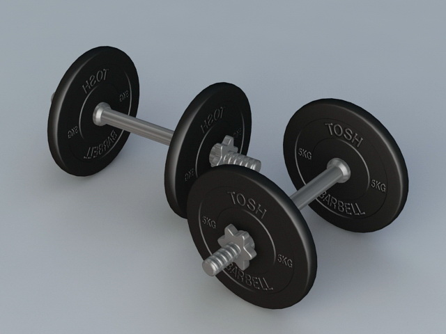 Weight Lifting Dumbbell 3d rendering