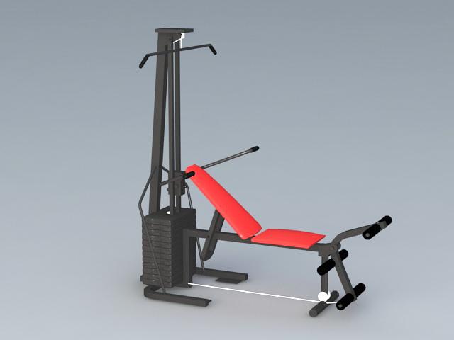 Home Gym Weight Machine 3d rendering