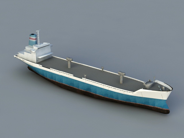 Old Cargo Ship 3d rendering