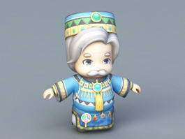 Anime Old King 3d preview