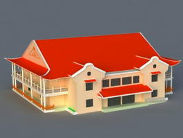 Chinese Architecture 3d model preview