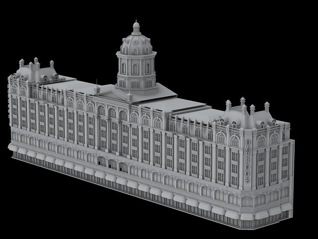 Harrods Department Store 3d rendering