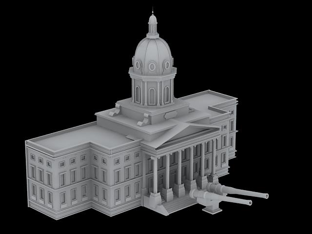 Imperial War Museum 3d rendering