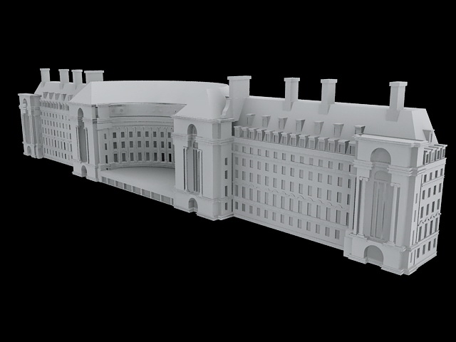 Old County Hall London 3d rendering
