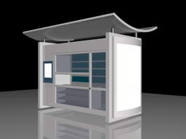 Outdoor Kiosk 3d preview