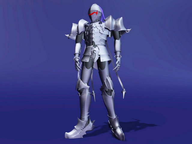Berserker Warrior Robot 3d rendering
