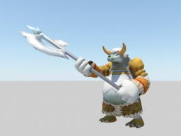 Minotaur Cartoon Character Rig 3d preview