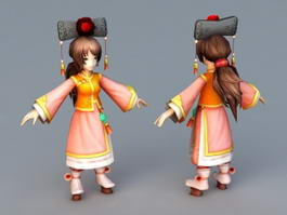 Ancient Chinese Princess 3d preview