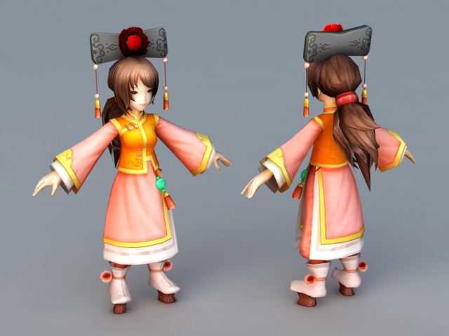 Ancient Chinese Princess 3d rendering