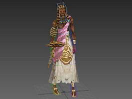 Animated Pharaoh Mummy 3d model preview