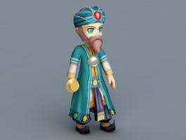 Ancient Arabian Merchant 3d preview