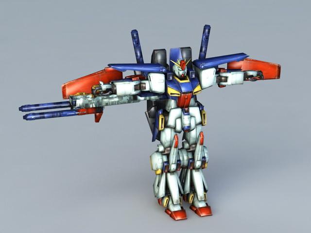 Gundam Fighter 3d rendering