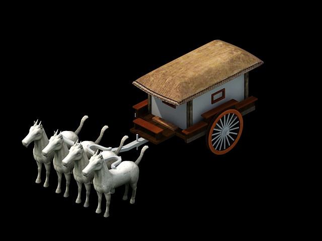 Terracotta Chariot 3d rendering
