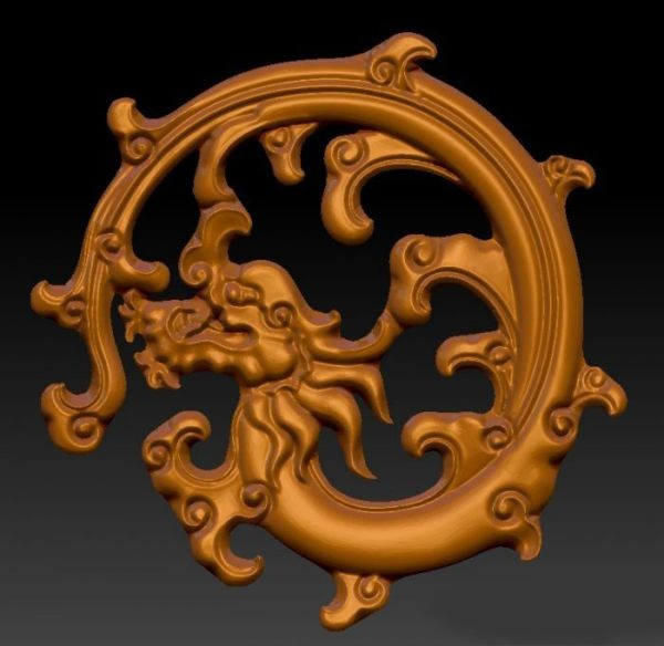 Dragon Sculpture 3d rendering