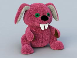 Stuffed Rabbit Plush Toy 3d preview