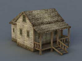 Old Wood House 3d preview