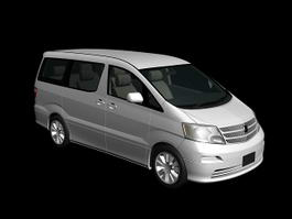 Toyota Alphard 3d preview