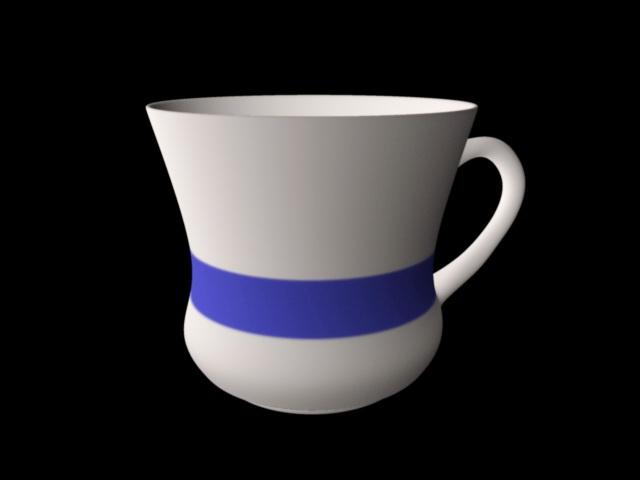 Coffee Cup 3d rendering