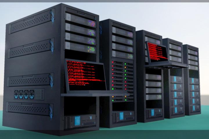 Super Computer 3d rendering