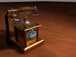 Vintage Telephone 3d model preview