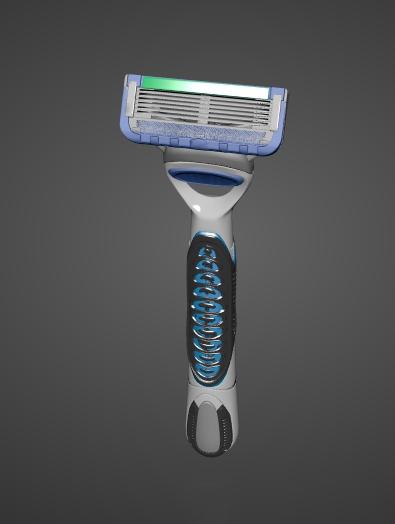 Cartridge Razor 3d rendering