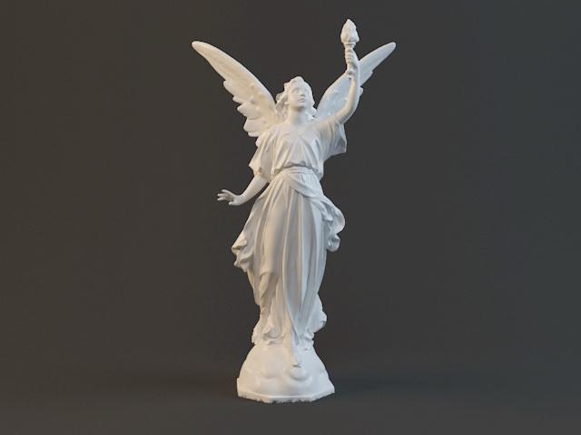 Goddess Lady Luck 3d rendering