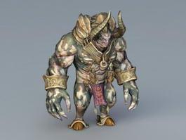 Demon Minotaur 3d model preview