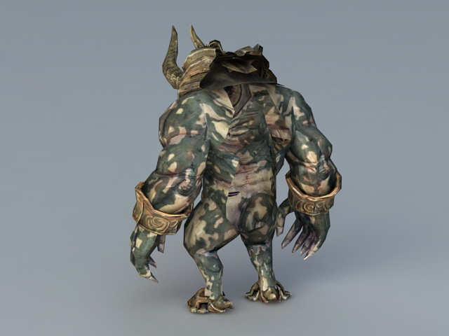 Demon Minotaur 3d rendering