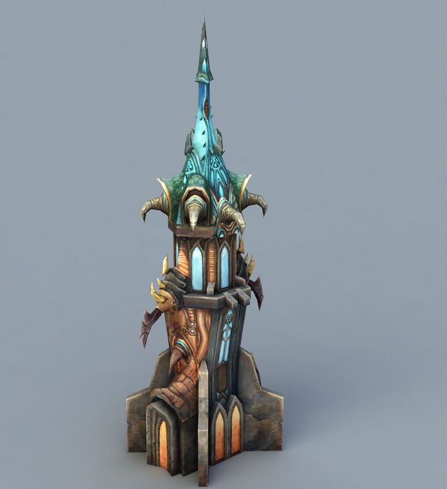Wizard Tower 3d rendering