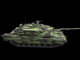 M1A1 Abrams Tank 3d model preview