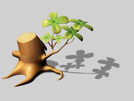 Tree Stump Cartoon 3d preview