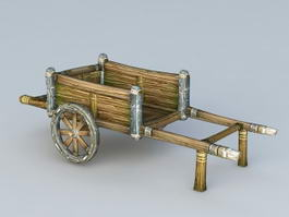 Old Wooden Cart 3d preview