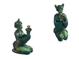 Ancient Chinese Statue 3d preview