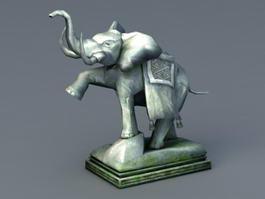 Stone Elephant Statue 3d preview