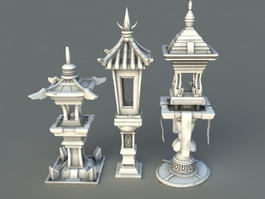 Chinese Garden Lanterns 3d preview