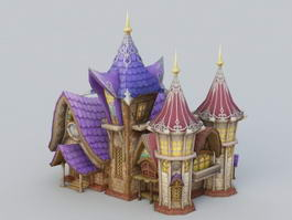 Cartoon Church Building 3d preview